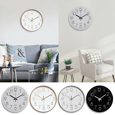 "12"" Silent Non-Ticking Quartz Decorative Battery Operated Wall Clock Living Room"