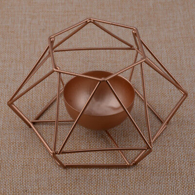 Nordic Style 3D Geometric Candlestick Metal Candle Holder Lantern Sconce Decor