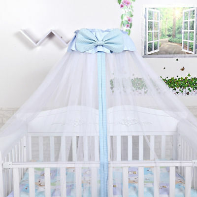 Boys Girls Mosquito Net Baby Princess Crib Netting Bed Canopy with Bowknot Decor