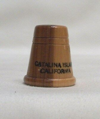 Catalina Island California Wood Thimble