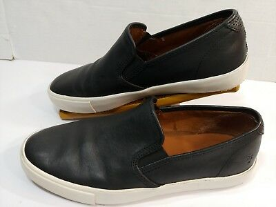 8f15933bb3c Frye Camille BLACK Leather Slip-on Sneaker Casual Fashion Loafers Mens 8.5M