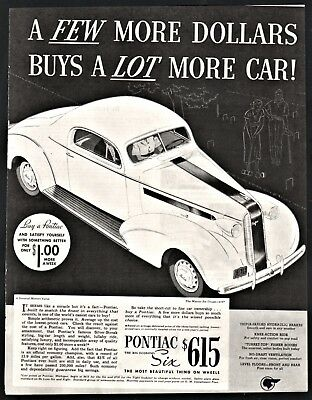 1936 Pontiac Deluxe Eight 8 Coupe Car Original Ad 9 99 Picclick