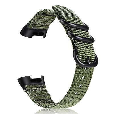 For Fitbit Charge 3 / 3 SE Soft Woven Nylon Sports Watch Bands Replacement Strap