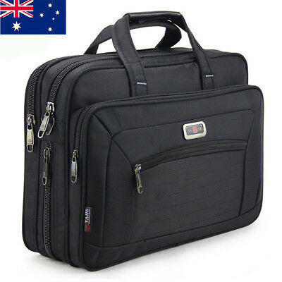 AU Large Mens Oxford Briefcases Bag Laptop Crossbody Briefcase Office Bag