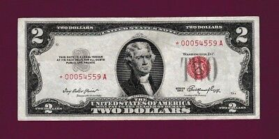 Fr.1509  $2  1953  STAR  LEGAL TENDER UNITED STATES NOTE LOW SERIAL# *00054559 A
