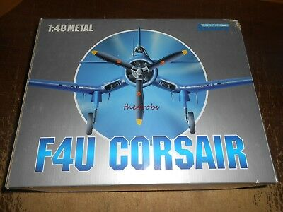 Franklin Mint Armour US Marines WW II F4U Corsair Die Cast Airplane in Box 98025