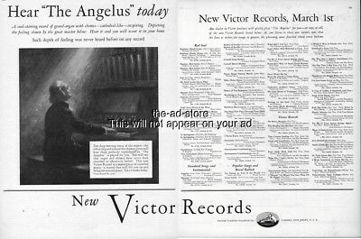 1926 RCA Victor Talking Red Seal Record March New Releases List Phonograph Ad