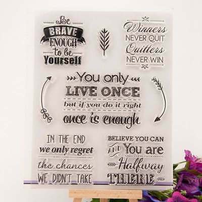 Brave Believe Clear Silicone Stamp Transparent Rubber Stamps DIY Scrapbook Card
