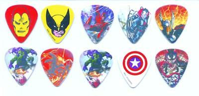 Marvel guitar picks lot of 10 Peavey Venom Daredevil Green Goblin Wolverine more