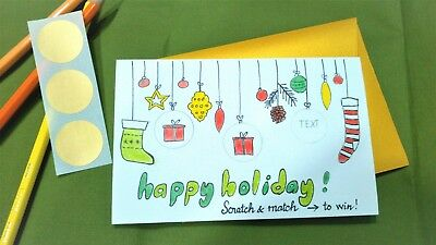 greeting christmas card surprising scratch off cards holiday happy new year