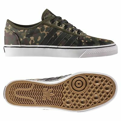 best loved ac895 16e87 adidas ORIGINALS MENS ADI-EASE SKATE TRAINERS GREEN SHOES SNEAKERS CAMO  CANVAS