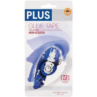 "Plus High Capacity Glue Tape Dispenser-.33""x72'"