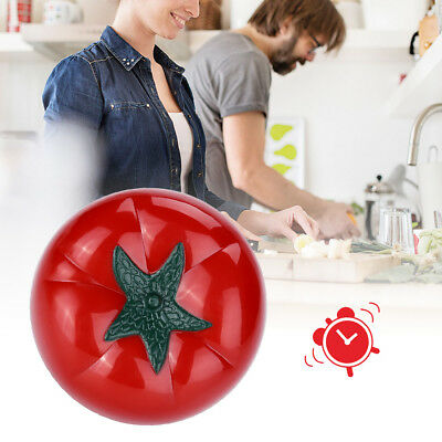 Cute Mechanical Tomato-Shaped Kitchen Clock Cooking 60 Mins Countdown Timer Bell