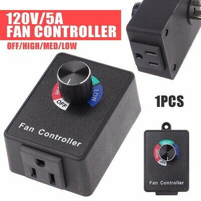 New Speed Controller Inline Fan Duct Variable Blower Air Vent Control US Plug