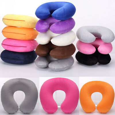 Soft U Shaped Travel Inflatable Neck Pillow Flight Car Head Rest Support Cushion