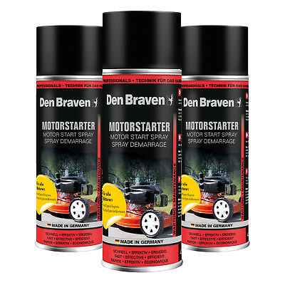 3x 400ml Den Braven Motorstarthilfespray Motor Start Hilfe Spray Motorstarter