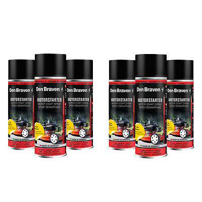 6x 400ml Den Braven Motorstarthilfespray Motor Start Hilfe Spray Motorstarter