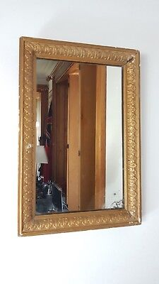 ANTIQUE 1890's VICTORIAN GOLD WOOD PLASTER FRAME WALL MIRROR UK MADE
