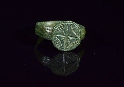 "Medieval Crusaders Period ""holy Land"" Ring With Religious Cross Motif - T87"
