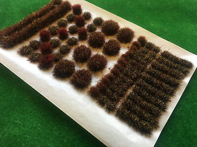 Earth Brown BIG True Tufts mixed Model Scenery Static Grass Wild Railway Wargame