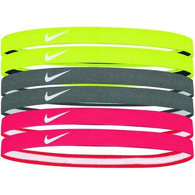 6 x Nike Printed Hairbands - Various Colours - Free P&P