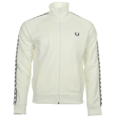1b4485de7b1 Vêtement Vestes sport Fred Perry homme Taped Tack Jacket Snow White taille