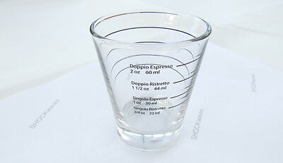 Professional Lined Coffee Shot Measuring Glass Espresso Glasses 60mL Shots