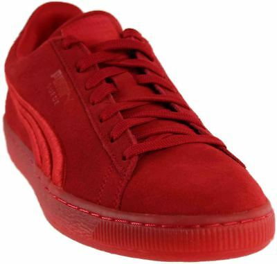 Puma Suede Classic Badge Iced Sneakers- Red- Mens