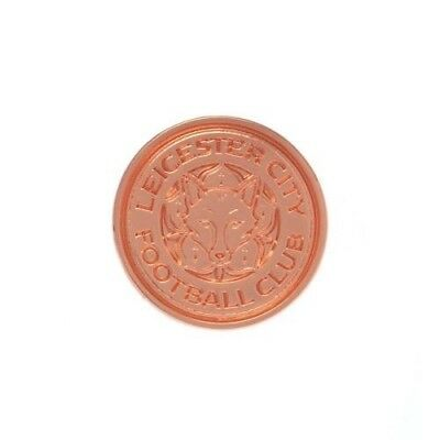Leicester City Football Club Crest Rose Gold Plated Finish Pin Badge Free UK P&P