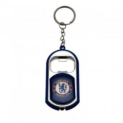 Chelsea Football Club Crest Torch & Bottle Opener Keyring with Free UK P&P