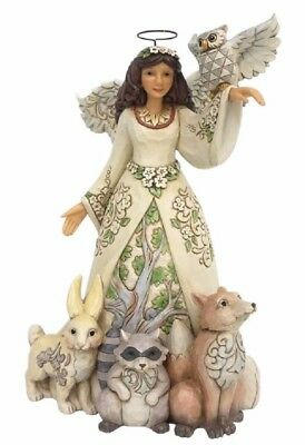 Jim Shore HWC Beauty Abounds Spring White Woodland Angel Figurine 4056968 New