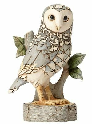 Jim Shore HWC Wisdom Begins with Wonder White Woodland Owl Figurine 4056970 New