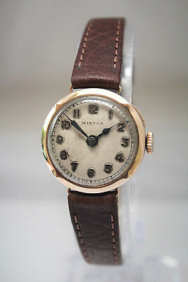 WINTEX by ROLEX - SOLID GOLD LADIES ART-DECO VINTAGE WATCH-BEAUTIFUL-NO RESERVE!