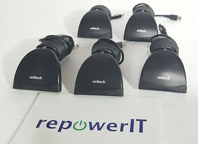 Lot of 5x Unitech USB Scanners • MS180-1UBG BarCode Reader • Tested • Large Qty