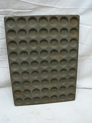 Vintage American Chocolate Mould Candy Medallion Mold Metal Pan Tray