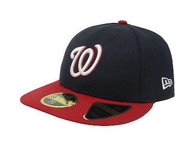 New Era 59Fifty Hat Mens MLB Low Profile Washington Nationals Blue Fitted Cap