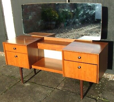 Vintage/Retro GPlan E.Gomme Mid-Century Dressing Table ~ with Mirror & Drawers