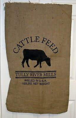 """24""""x 40"""" Cattle Feed Sack Repro. 10 Oz Hydrocarbon Free Burlap Bag NEW"""