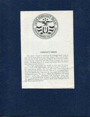 DLG 6 USS FARRAGUT WELCOME ABOARD Booklet US Navy Ship Squadron Pamphlet