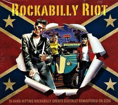 Rockabilly Riot - 50 Hard Hitting Greats (New Sealed 2Cd)