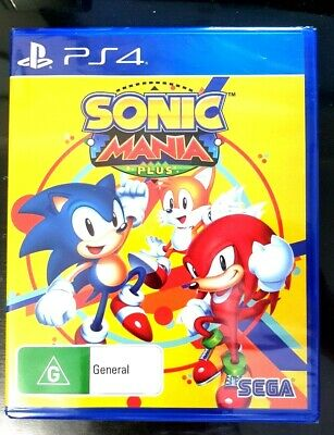 SONIC MANIA PLUS PS4 Playstation 4 Brand New Sealed