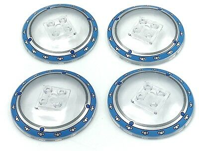 Lego 4 New Trans-Clear Dishes 6 x 6 Inverted Radar Solid Studs Pieces