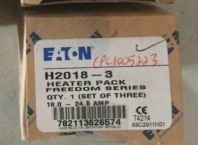Eaton H2018-3 Heater Coil Pack 18.0-24.5 Amp