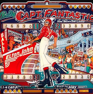 "Elton John Capt. Fantastic Pin Ball Backdrop  FRIDGE Magnet 3"" x 3"""