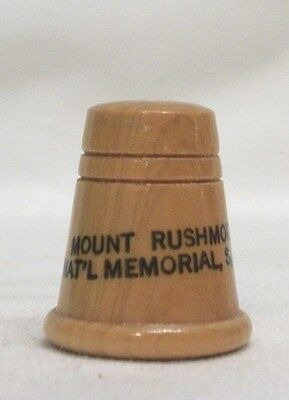 Mount Rushmore Nat'l Memorial, S. D. Wood Thimble