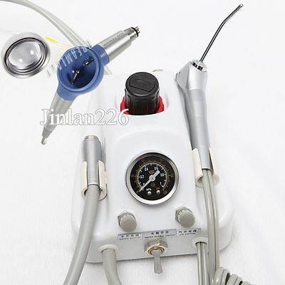 Portable Dental Turbine Unit Air Water Syringe 4 H + Prophy Air Polisher Flow N4