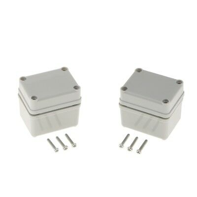 2Pcs Junction box Waterproof IP67 Plastic ABS Adaptable Enclosure 65×50×55mm