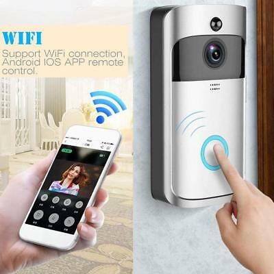 Smart Video Wireless WiFi Visual DoorBell Visual Camera Record Home Security