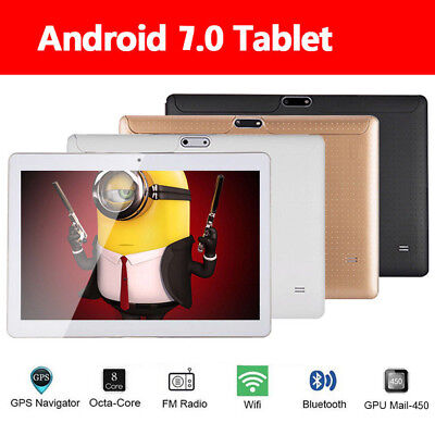 "10.1"" Inch SIM Tablet PC Android 7.0 Quad-core Google 64GB Wifi Dual Camera GPS"