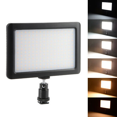 192 LED Photo Video Light Lamp Panel+Hot Shoe+Battery for Camera Camcorder DC764